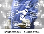robotic arm industry 4.0... | Shutterstock . vector #588865958