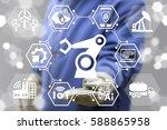 robotic arm industry 4.0... | Shutterstock . vector #588865958