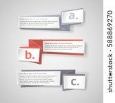 vector infographic origami...   Shutterstock .eps vector #588869270
