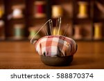 background is sewing... | Shutterstock . vector #588870374