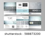 set of business templates for... | Shutterstock .eps vector #588873200