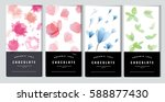 chocolate bar packaging mock up ... | Shutterstock .eps vector #588877430