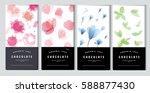 chocolate bar packaging mock up ... | Shutterstock .eps vector #588877430