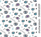trendy vector pattern with... | Shutterstock .eps vector #588881039
