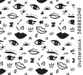 trendy vector pattern with... | Shutterstock .eps vector #588881048