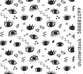 trendy vector pattern with... | Shutterstock .eps vector #588881099
