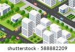 city isometric 3d dimensional...   Shutterstock .eps vector #588882209