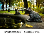 Figurines Of Frogs  Fountain...