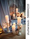 romantic interior for valentine'... | Shutterstock . vector #588884210