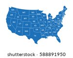 usa map | Shutterstock .eps vector #588891950