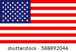 usa flag | Shutterstock .eps vector #588892046