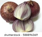 red onions with isolated... | Shutterstock . vector #588896369
