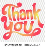thank you  font  sketch   Shutterstock .eps vector #588902114