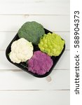 fresh organic white and purple... | Shutterstock . vector #588904373