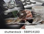 double exposure businessman...   Shutterstock . vector #588914183