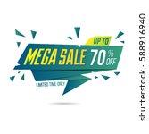 limited offer mega sale banner. ... | Shutterstock .eps vector #588916940