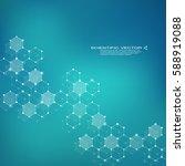 hexagonal molecule dna.... | Shutterstock .eps vector #588919088