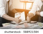 business team discussing ideas... | Shutterstock . vector #588921584