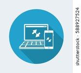 multi devices synchronization... | Shutterstock .eps vector #588927524