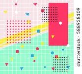 geometric design background... | Shutterstock .eps vector #588928109