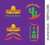 mexican food logo. mexican fast ... | Shutterstock .eps vector #588931388