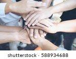 in selective focus of business... | Shutterstock . vector #588934688