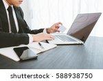 business concept  business man... | Shutterstock . vector #588938750