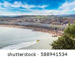 Panoramic View Of Beach In...