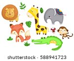 colorful animal | Shutterstock .eps vector #588941723