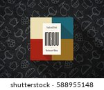 restaurant menu design. vector... | Shutterstock .eps vector #588955148