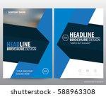 abstract vector modern flyers... | Shutterstock .eps vector #588963308