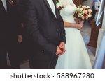 bride and groom | Shutterstock . vector #588967280