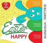 happy easter info graphics... | Shutterstock .eps vector #588972818