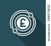 money trade flat icon   sterling   Shutterstock .eps vector #588973820