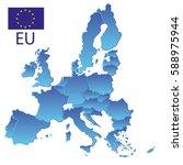 simple all european union... | Shutterstock .eps vector #588975944