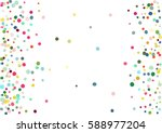 abstract colorful flying in the ... | Shutterstock .eps vector #588977204