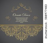 vector decorative frame.... | Shutterstock .eps vector #588977483