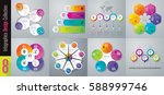 infographics design vector and... | Shutterstock .eps vector #588999746