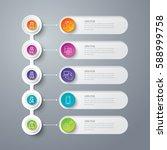 timeline infographics design...   Shutterstock .eps vector #588999758