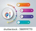 timeline infographics design... | Shutterstock .eps vector #588999770
