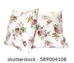 pillows on white background | Shutterstock . vector #589004108