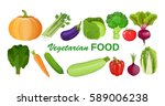 eco food menu background. fresh ... | Shutterstock .eps vector #589006238