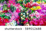 flowers for sale at a flower... | Shutterstock . vector #589012688