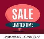 sale banner design. big set of... | Shutterstock .eps vector #589017170