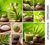 spa still life collage | Shutterstock . vector #58902644