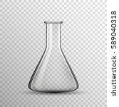 transparent chemical glass bulb ... | Shutterstock .eps vector #589040318