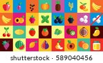 stock vector illustration set... | Shutterstock .eps vector #589040456