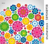 Stock vector flowers spring design on a white background floral vector illustration 589048958