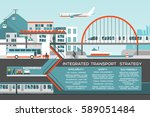 transport flat illustration
