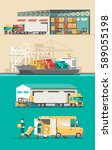 delivery service concept.... | Shutterstock .eps vector #589055198